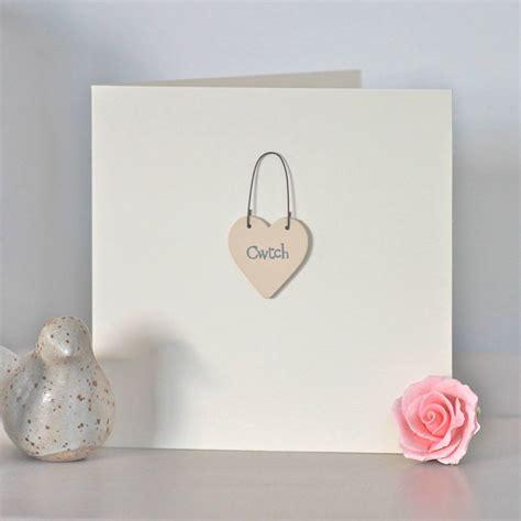 Engagement Cards Handmade - cwtch handmade card by chapel cards notonthehighstreet