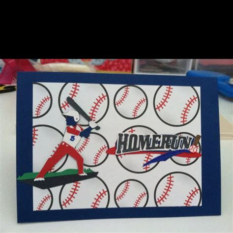 Cards Themed - baseball themed birthday card paper crafts