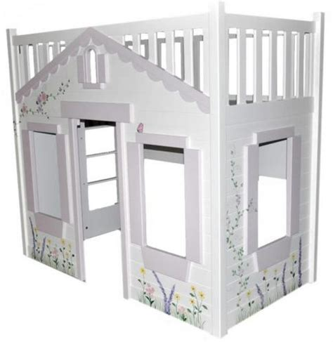 Storybook Cottage Bed by Storybook Cottage Loft Bed Pink