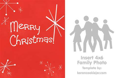 merry photo card template free photo card template cookie jar