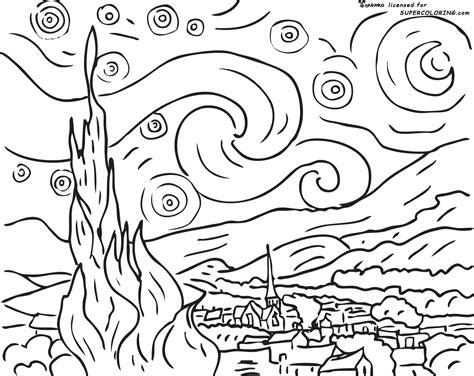Baby Van Gogh Coloring Pages Coloring Pages Gogh Coloring Pages