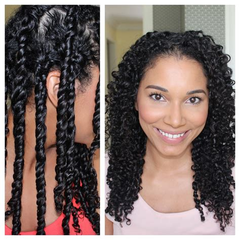 how to curl hair with twists 3 strand twist out demo results youtube