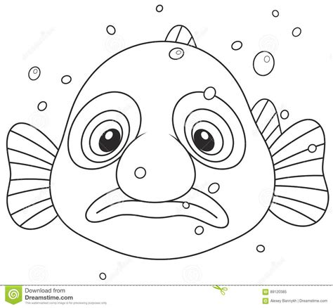 blob fish coloring page blob fish stock vector illustration of outline clip
