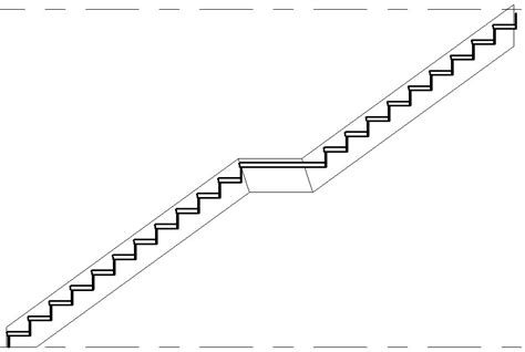 stairs in section revitcat true 3d rcp view of a stair in revit
