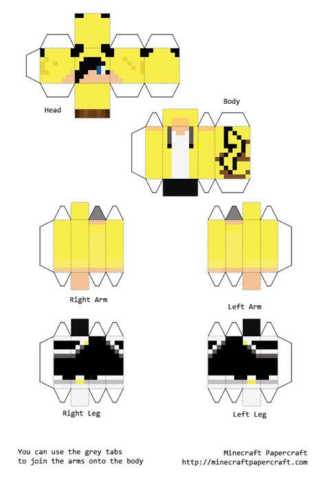 Minecraft Papercraft Boy - papercraft pikachu boy