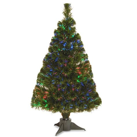 fiber optic lighted palm tree martha stewart living 7 5 ft pre lit led sparkling pine