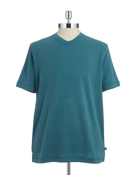 bahama shirts bahama textured v neck t shirt in green for lyst
