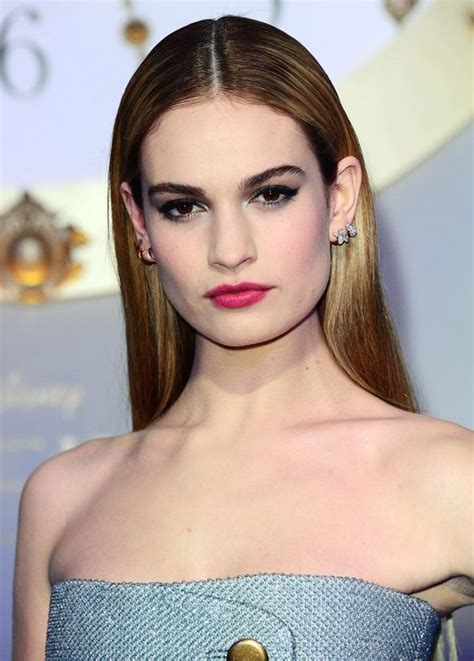 cinderella hair celebrities no pumpkins here downton star lily james oozes glamour at