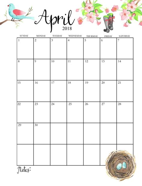 april 2018 calendar printable page month to month printable calendar 2018 calendar 2018