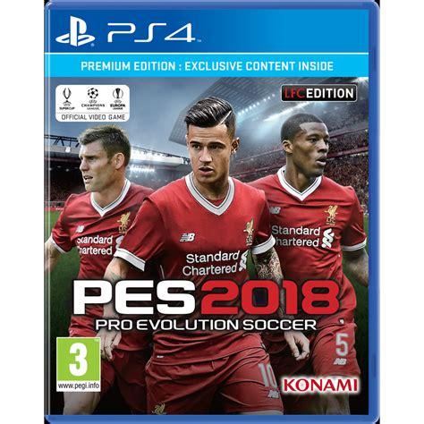 Kaset Ps4 Pro Evolution Soccer 2018 Standard Edition Pes 2018 lfc edition pro evolution soccer 2018 liverpool fc
