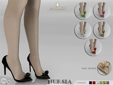 sims 4 shoes the sims resource mj95 s madlen nursia shoes