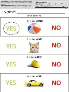 Free Printable Worksheets For Autistic Children 1000 images about autism worksheets intraverbal skills on