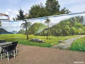 paysage mur de jardin