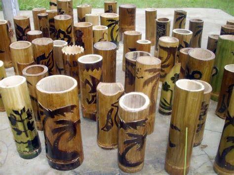 cara membuat jemuran dari bambu cara membuat vas bunga dari bambu 187 infoana com