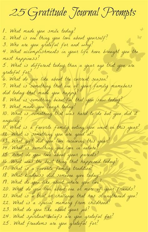printable gratitude journal 25 gratitude journal prompts with questions and ideas to
