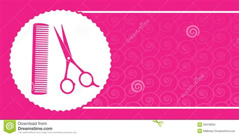 Friseur Peine Barbershop Business Card With Scissors And Comb Stock