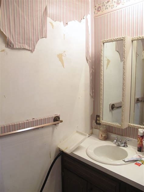 how to paint over wallpaper in a bathroom 5 tips for a cheap diy bathroom thrift diving blog