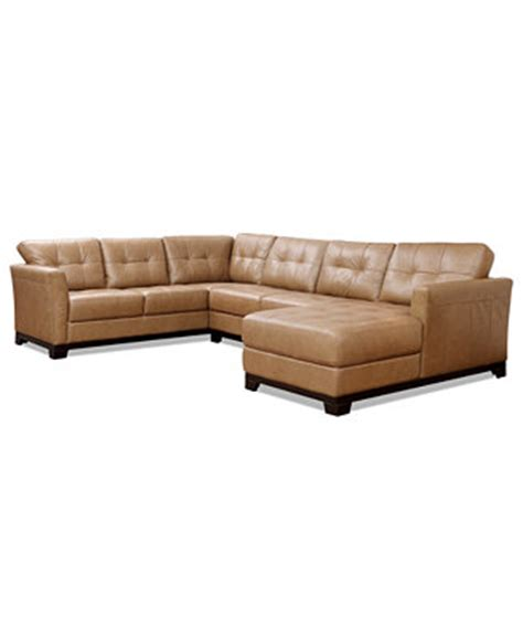martino leather 3 chaise sectional sofa furniture
