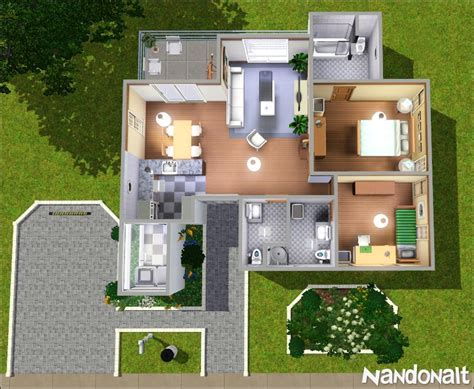 Mod The Sims   Medium White House   2BD 3WC