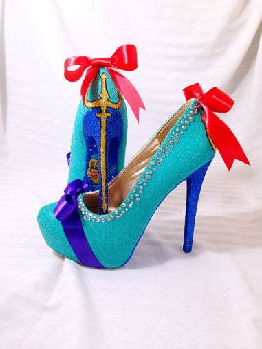 disney high heel shoes the mermaid heels available by etsy seller