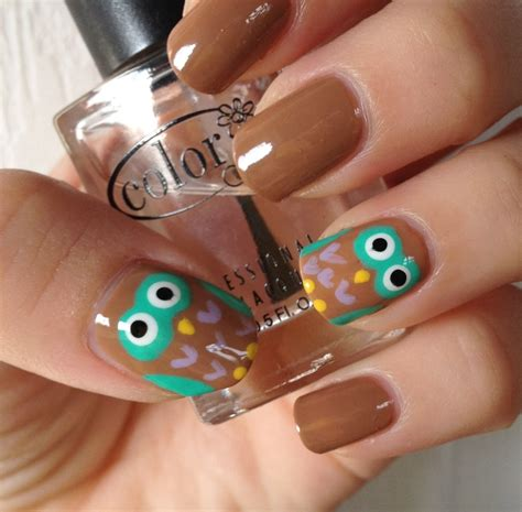 Owl Nail owl nail tutorial normandlou