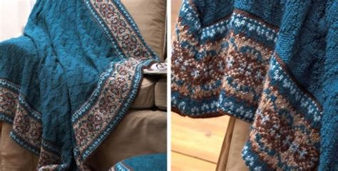 how to fair isle knit fair isle border knitted blanket and pillow free knitting