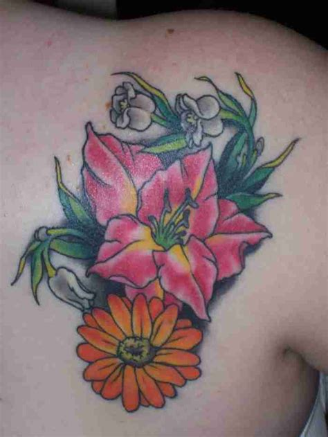birth month flowers tattoos color birth month flowers tattoos tattooshunt