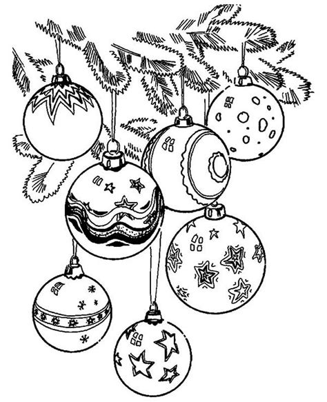 christmas ornament colouring pages christmas tree