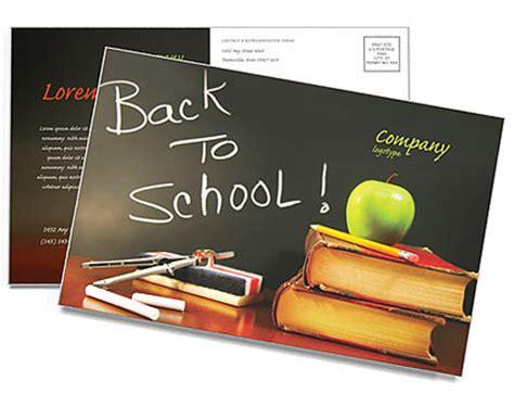 Back To School Postcard Template Design Id 0000000602 Smiletemplates Com Back To School Postcard Template