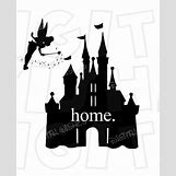 Disney Castle Silhouette With Tinkerbell | 570 x 706 jpeg 40kB