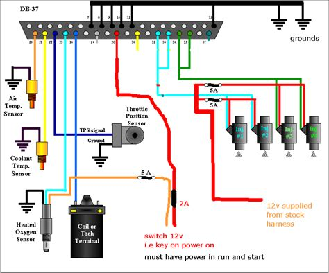 Multi Point Fuel Injection System Diagram