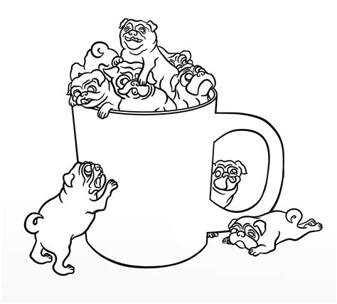 printable coloring page pug coloring pages best coloring pages for