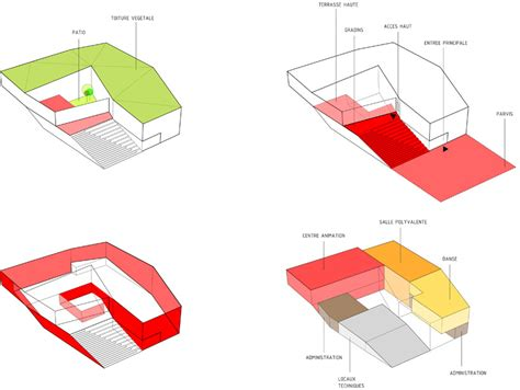 Create Office Floor Plan o s architectes cultural center in nevers france