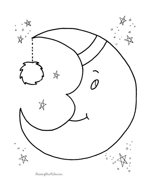Preschool Coloring Pages Moon | moon preschool coloring pages free printable coloring