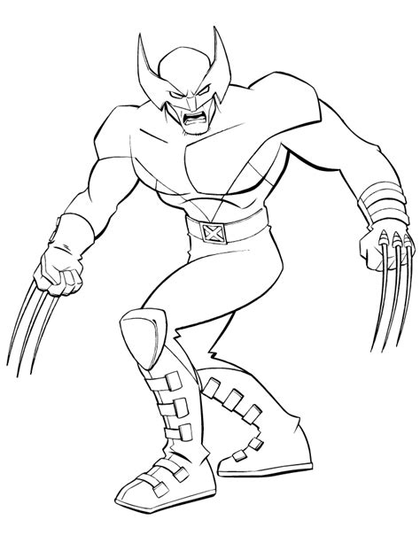 free coloring pages of super hero boy