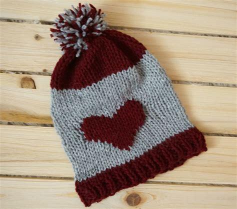 heart hat pattern hearts hats knitted