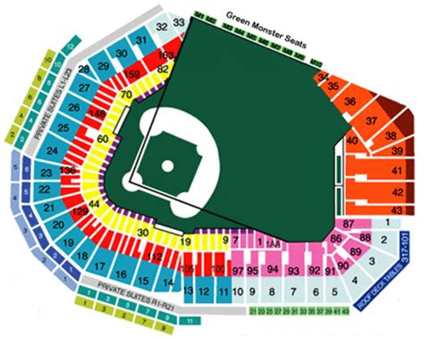 mccoy stadium seating chart fenway park 2008 seating prices boston s pastime