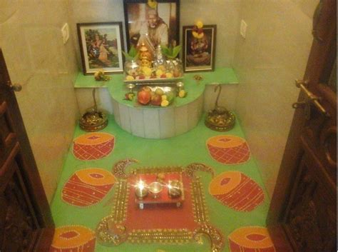 Janmashtami Decorations At Home pooja room designs and decor for diwali pooja room and