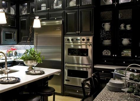 black kitchen cabinets with stainless steel appliances refrigerators parts stainless steel fridges