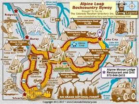 colorado scenic drives map alpine loop backcountry scenic byway map colorado