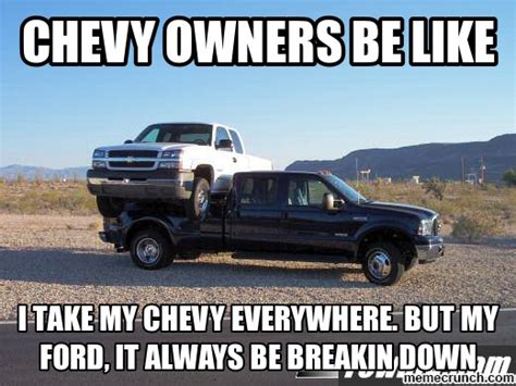Ford Vs Chevy Meme - ford vs chevy memes memes