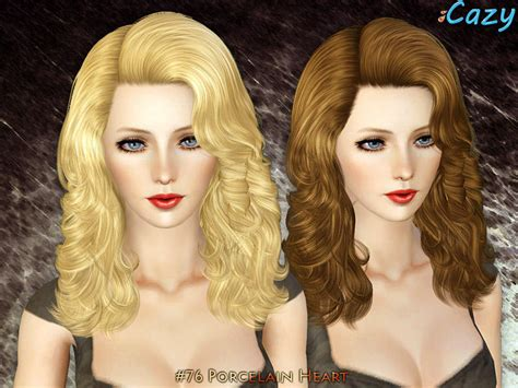 sims 3 hairstyle cheats cazy s porcelain heart hairstyle set
