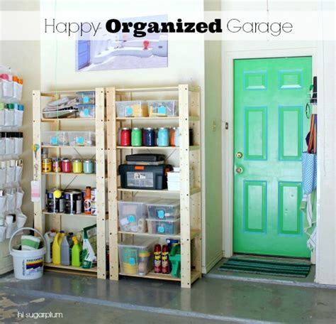 ways to organize a garage remodelaholic 25 ways to get organized in the new year