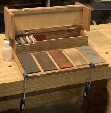 custom woodworkers portable sharpening station close