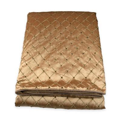 gold coverlet queen buy gold coverlet from bed bath beyond