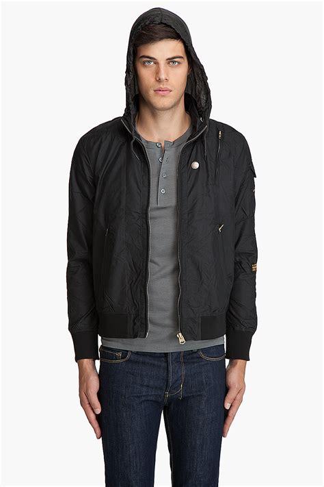 Bomber Veneta Bahan Baby Terry Zipper lyst g new macc bomber jacket in black for