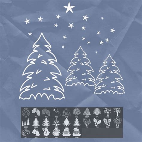 35 free photoshop christmas brushes for winter holidays
