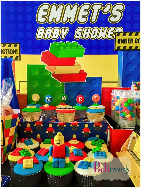 Construction Baby Shower Ideas by Lego Construction Baby Shower Baby Shower Ideas Themes