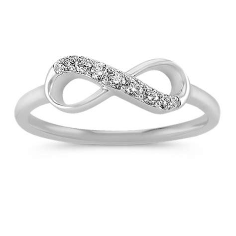 14k white gold infinity ring shane co