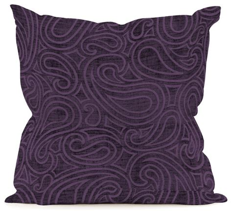Eggplant Colored Throw Pillows by Rhythm Eggplant 16 Quot X16 Quot Pillow Decorative